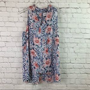 CAbi Stem Floral Sleeveless Top Small